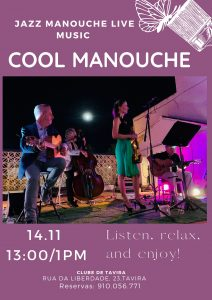 ENTUSIASTA CATERING & EVENTS LIVE JAZZ with COOL MANOUCHE 14 11 13H